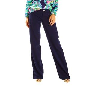 Lilly Pulitzer Braylen Palazzo Pants in Navy